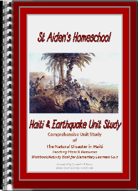 This Educator's Pack has been prepared specifically with the Homeschool Family in mind, and can be adapted for very young children to learners in around Grade 7. The pack includes teaching resources, lesson plans, interactive activities for young and older learners, an extremely comprehensive unit study on Haiti, the geography, history, cultures, as well as a comprehensive unit study on Earthquakes and disaster Management.