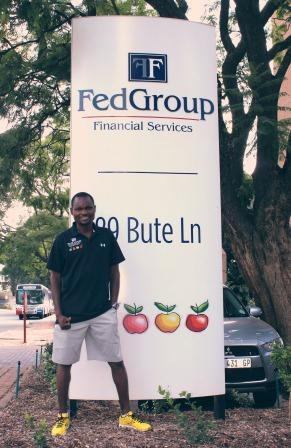 Stephen Muzhingi runs with Fedgroup