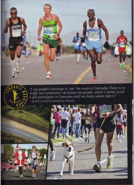 Petros Sosibo features inside of Comrades Marathon Souvenir Magazine 2013