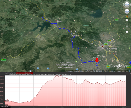 mandela marathon route map