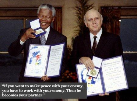Nelson Mandela and F W de Klerk, Heroes Both
