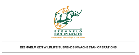 #EZEMVELO KZN WILDLIFE SUSPENDS #KWACHEETAH OPERATIONS after three cheetah attacks in recent months